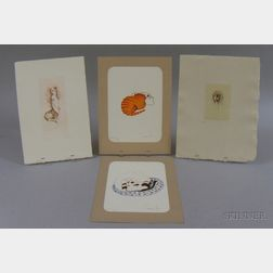Lot of Seven Unframed Prints By or After Leonor Fini (French, 1908-1996) of a Cat or   Figural Studies