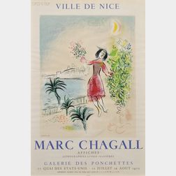 After Marc Chagall (French/Russian, 1887-1985)      Ville de Nice - Galerie des Ponchettes