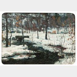 John Joseph Enneking (American, 1841-1916)      Brook in Winter