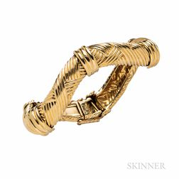 David Webb 18kt Gold Bracelet