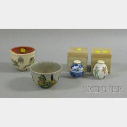 Four Japanese Tea Ceremony Items