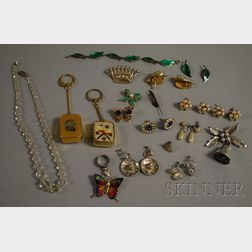 Small Group of Sterling Silver and Costume Jewelry