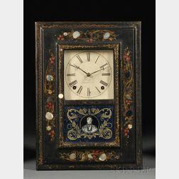 J. C. Brown Mother-of-Pearl Shelf Clock