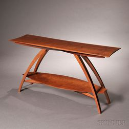 Wayne Marcoux (American) Studio Furniture Hall Table