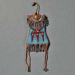 Kiowa Beaded Leather and Hide Strike-a-Light Bag