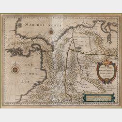 South America. Willem Janszoon Blaeu (1571-1638) Terra Firma et Novum Regnum Granatense et Popayan.