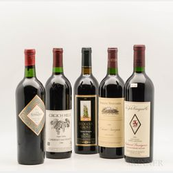 Mixed Napa Wines, 5 bottles