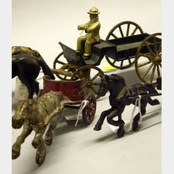 Three Cast-Iron Horse-Drawn Vehicles