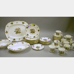 Forty-nine Piece Royal Worcester Transfer Dorchester Pattern Porcelain Partial   Dinner Service