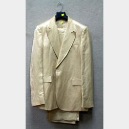 Costume National Homme Man's Tan Linen and Rayon Suit