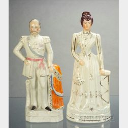 Two Staffordshire Royal Figures