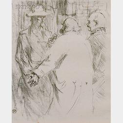 Henri de Toulouse-Lautrec (French, 1864-1901)      Clémenceau a busk