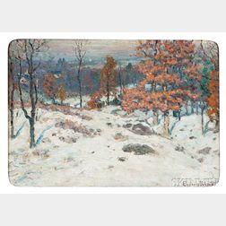 John Joseph Enneking (American, 1841-1916)      Winter - December Afternoon near Newburyport, Mass.