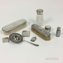 Group of Silver-mounted Vanity Items