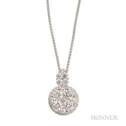18kt White Gold and Diamond Pendant
