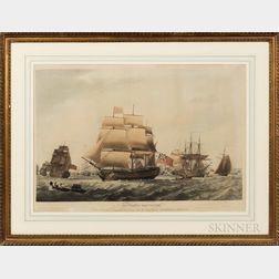After Robert Dodd (British, 1748-1816), His Majestys Ship Victory Under Sail from Portsmouth to the Downs with the Corpse of the Immor