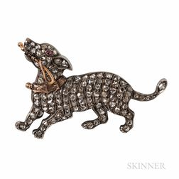 Diamond Dog Brooch