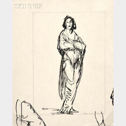 Robert Henri (American, 1865-1929)      Figure of a Woman