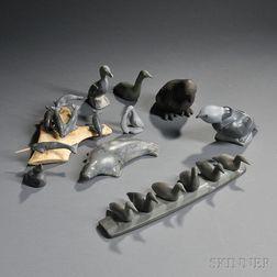 Nine Inuit Carvings