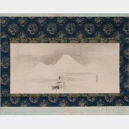Hanging Scroll Depicting a Landscape