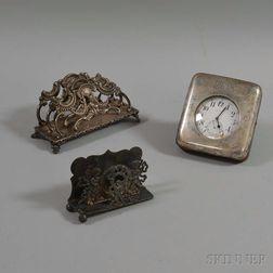 Three Sterling Silver Desk Items