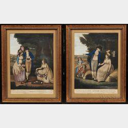 Four English Prints of the Four Seasons