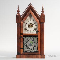 Mahogany Veneer Steeple Clock