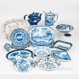Group of European and Chinese Export Make-do Porcelain Tableware