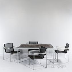 Richard Schultz (American, b. 1926) for Knoll Studios 1966 Patio Dining Table and Four Side Chairs