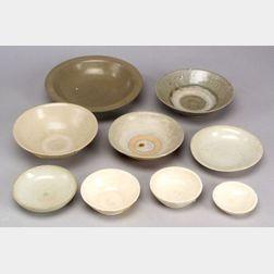 Nine Stoneware Bowls