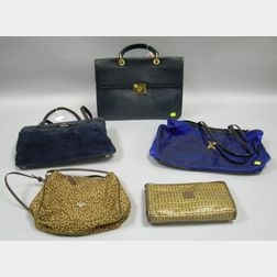 Group of Five Designer Handbags