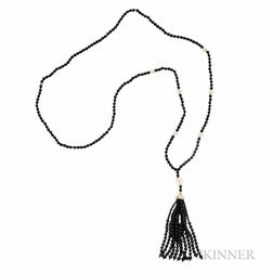 """Sterling Silver, Freshwater Pearl, and Onyx """"Ziegfeld"""" Necklace, Tiffany & Co."""