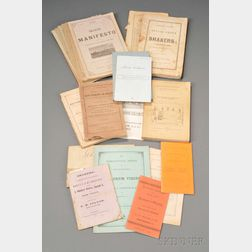 Group of Shaker and Shaker-related Ephemera