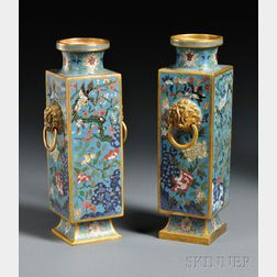 Pair of Cloisonne Vases