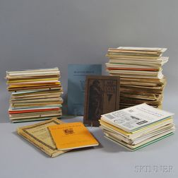 Collection of Vintage and Antique Book Auction Catalogs