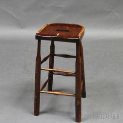 Mahogany and Pine Clerk's Stool