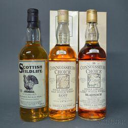 Mixed Single Malt Scotch, 3 bottles