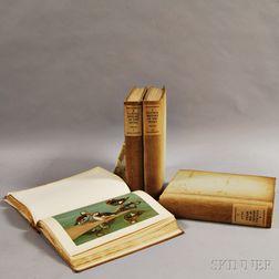 Four Volume Set of John Charles Phillips' Natural History of Ducks