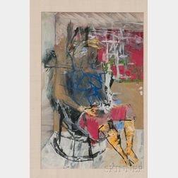 American School, 20th Century      Abstract Figure in a Rocking Chair