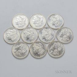 Ten Uncirculated Morgan Dollars