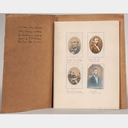 Lincoln, Abraham (1809-1865) Meserve Album of Photographs.