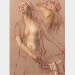 Robert Brackman (American, 1898-1980)      Two Figure Study
