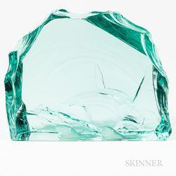Kosta Boda Swimming Polar Bears Glass Sculpture