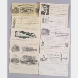 Group of Assorted Late 19th/Early 20th Century Billheads, Letterheads, Receipts