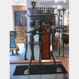 Grand Tour Patinated Bronze Incense Burner