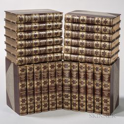 Decorative Bindings, Sets, Nathaniel Hawthorne (1804-1864) The Complete Writings  , Large Paper Edition.