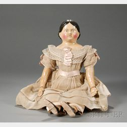 Large Papier-mache Child Doll