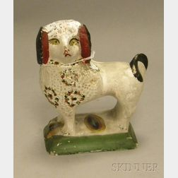 Painted Chalkware Spaniel Figure
