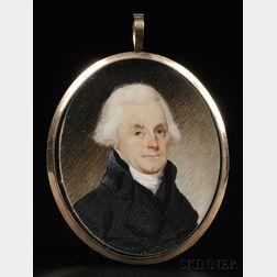 Possibly Robert Field, (American, born in England c. 1769-1819),      Portrait Miniature of Thomas Jefferson c. 1800.