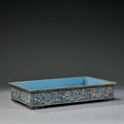 Rectangular Cloisonne Basin